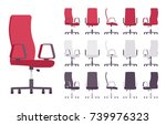 executive office chair... | Shutterstock .eps vector #739976323