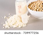 close up soy milk powder for...   Shutterstock . vector #739977256