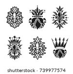 lily flowers royal symbols ... | Shutterstock .eps vector #739977574
