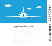 plane in the sky and text ... | Shutterstock .eps vector #739977964