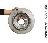brake discs isolated on white... | Shutterstock . vector #739978108