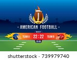 vector of american football ... | Shutterstock .eps vector #739979740