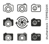 photo vector icons set. black... | Shutterstock .eps vector #739982644
