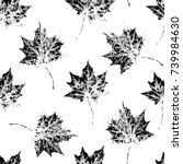 black and white seamless... | Shutterstock .eps vector #739984630