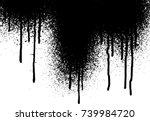 vector dripping paint. paint... | Shutterstock .eps vector #739984720