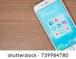 bangkok  thailand   oct 16 ... | Shutterstock . vector #739984780