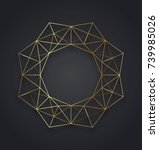 geometric gold metallic... | Shutterstock .eps vector #739985026