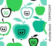 abstract colorful apple...   Shutterstock .eps vector #739992349