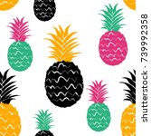 abstract colorful pineapple... | Shutterstock .eps vector #739992358