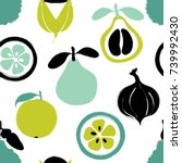 abstract colorful fruits... | Shutterstock .eps vector #739992430