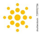 sun vector logo.    Shutterstock .eps vector #739992736