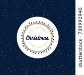 christmas design with a blue... | Shutterstock .eps vector #739992940