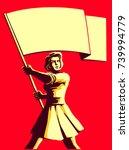 vintage soviet socialist... | Shutterstock .eps vector #739994779