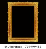 gold photo frame with corner... | Shutterstock .eps vector #739999453