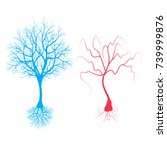 healthy and unhealthy neuron   Shutterstock .eps vector #739999876
