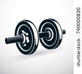 dumbbell vector illustration... | Shutterstock .eps vector #740000830