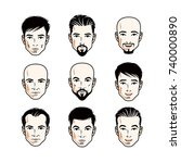 collection of caucasian men... | Shutterstock .eps vector #740000890