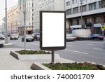 blank mock up of vertical... | Shutterstock . vector #740001709
