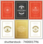 christmas sale flyers or...   Shutterstock .eps vector #740001796