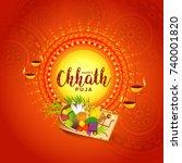 illustration greeting card... | Shutterstock .eps vector #740001820