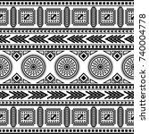tribal vintage ethnic seamless   Shutterstock .eps vector #740004778