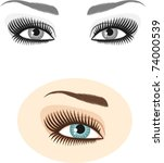 eyes and eyebrows | Shutterstock .eps vector #74000539