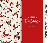 christmas background with santa ...   Shutterstock .eps vector #740007700
