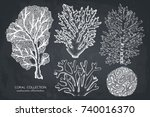 vector collection of hand drawn ... | Shutterstock .eps vector #740016370
