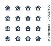 house conceptual vector icon... | Shutterstock .eps vector #740027500