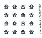 house conceptual vector icon... | Shutterstock .eps vector #740027500