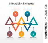 business horizontal timeline... | Shutterstock .eps vector #740031718