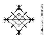 snowflake isolated on white... | Shutterstock .eps vector #740033689