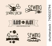 vector set of sewing and tailor ... | Shutterstock .eps vector #740033794