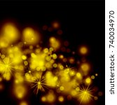 abstract twinkled bright... | Shutterstock . vector #740034970