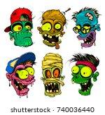 zombie  vampire  mummy heads...