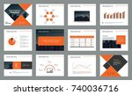 page design for business... | Shutterstock .eps vector #740036716