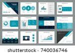 page design for business... | Shutterstock .eps vector #740036746