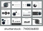 page design for business... | Shutterstock .eps vector #740036800