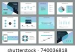 page design for business... | Shutterstock .eps vector #740036818