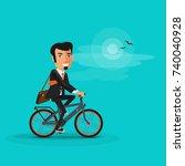 vector illustration of man... | Shutterstock .eps vector #740040928