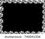 grunge frame. vector... | Shutterstock .eps vector #740041336