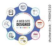 business data visualization.... | Shutterstock .eps vector #740041510