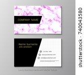 business cards vector template  ... | Shutterstock .eps vector #740043580