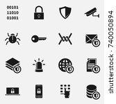 set of secure vector icons. | Shutterstock .eps vector #740050894