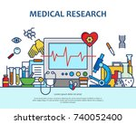 medical research concept in... | Shutterstock .eps vector #740052400
