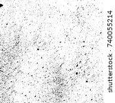 grunge black white. monochrome... | Shutterstock .eps vector #740055214