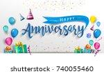 Happy Anniversary Typography...