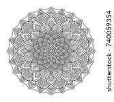 vector ornamental mandala ... | Shutterstock .eps vector #740059354