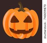 halloween pumpkin. isolated on... | Shutterstock .eps vector #740059870