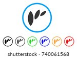 flora leaf abstraction rounded... | Shutterstock .eps vector #740061568